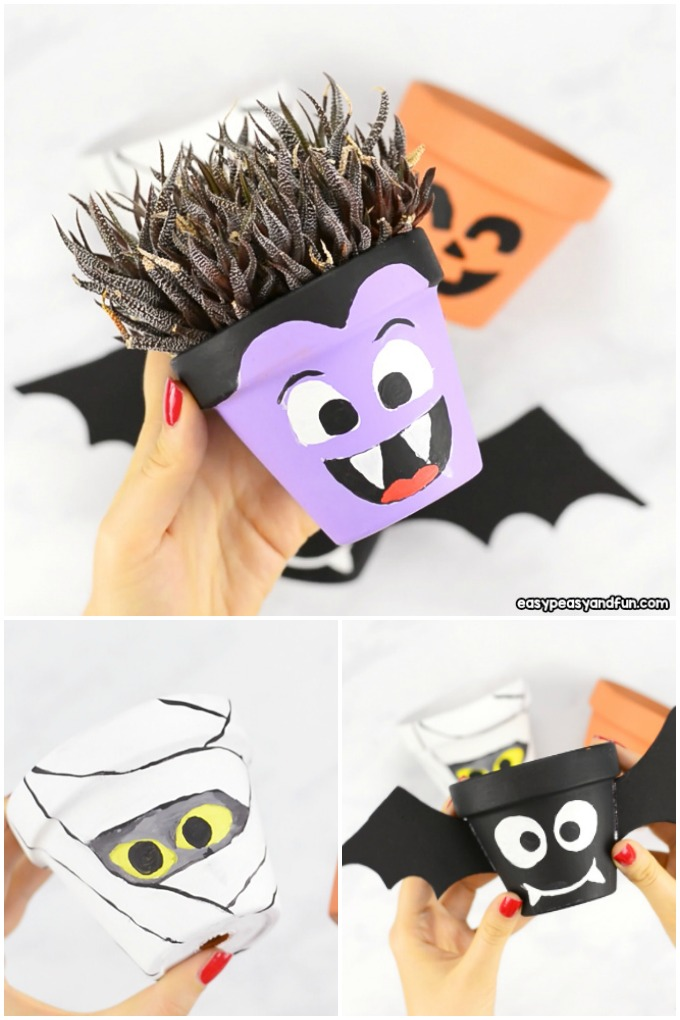 Halloween Clay Pot Craft Ideas