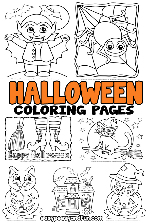 Halloween Coloring Pages - lots of fun designs for all ages