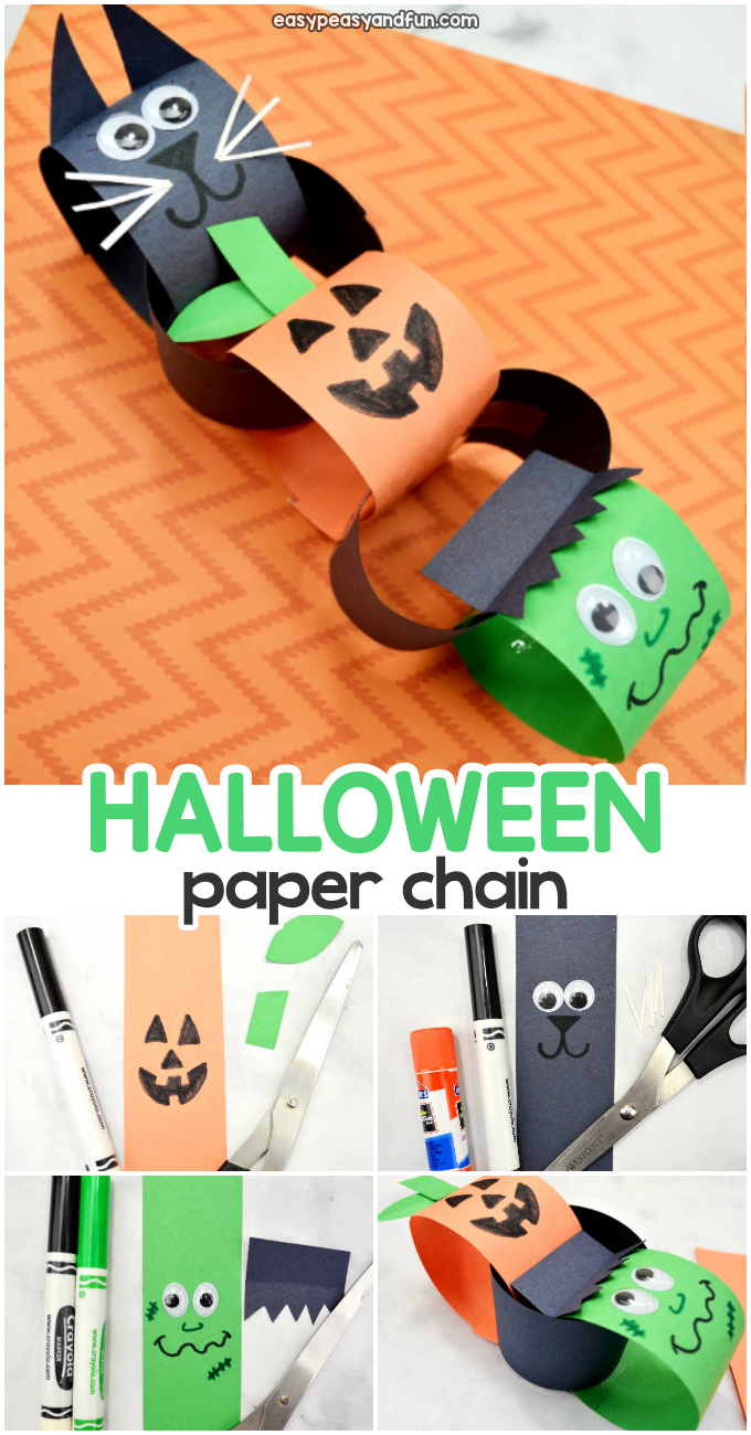 halloween paper chains easy peasy and fun