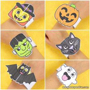 Halloween Bracelets for Kids – Printable Paper Bracelets