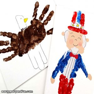 Handprint Art 4th of July