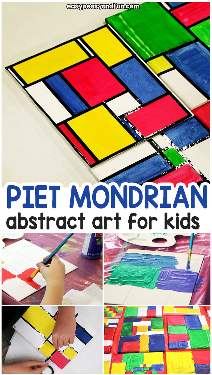 How to Create Piet Mondrian Abstract Art for Kids