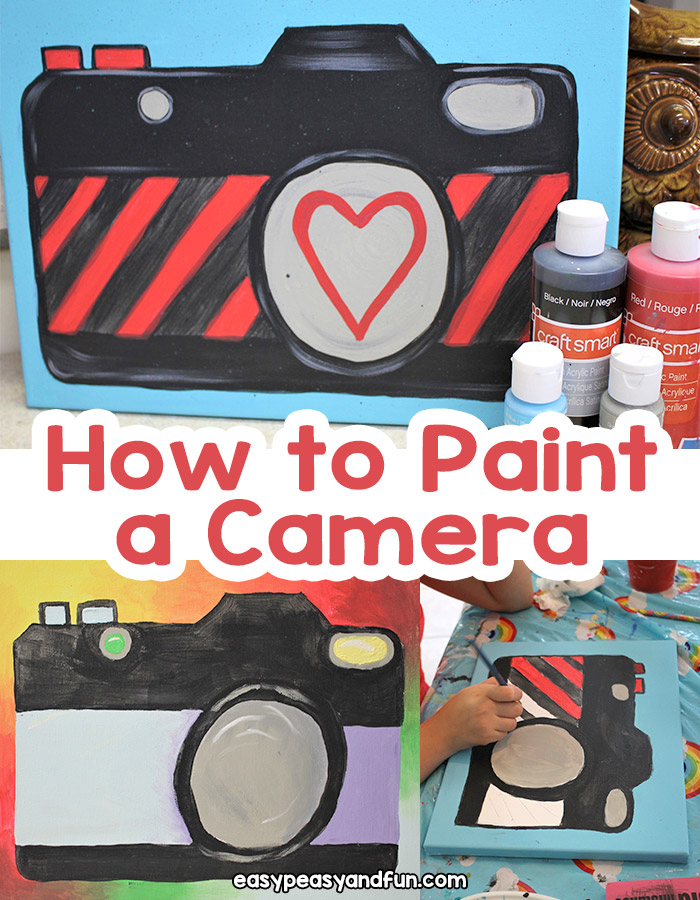 How to Paint a Camera a step by step acrylic painting for beginners