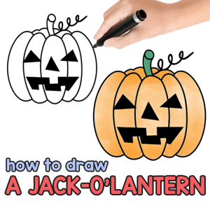 Halloween Pumpkin Drawing Picture.How To Draw Halloween Archives Easy Peasy And Fun