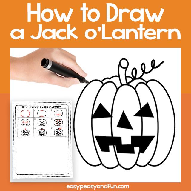 How to Draw a Jack'o Lantern