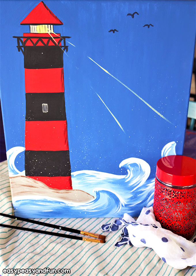Lighthouse Canvas Painting