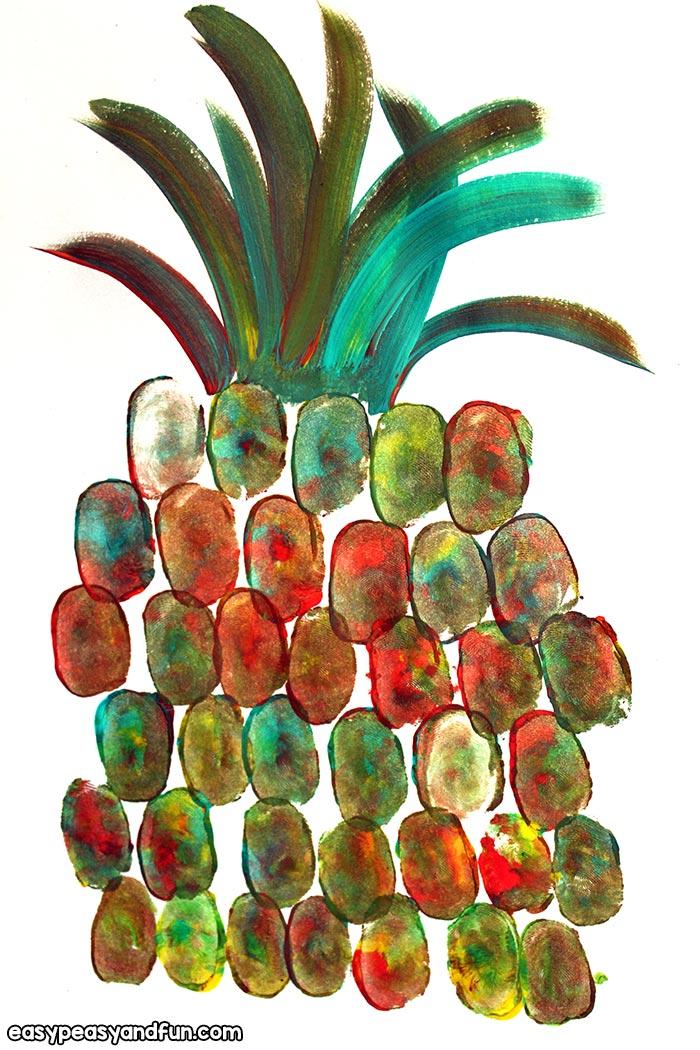 Pineapple Fingerprint Art from Easy Peasy and Fun