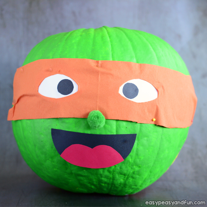 Ninja Turtle Pumpkin Painting Idea