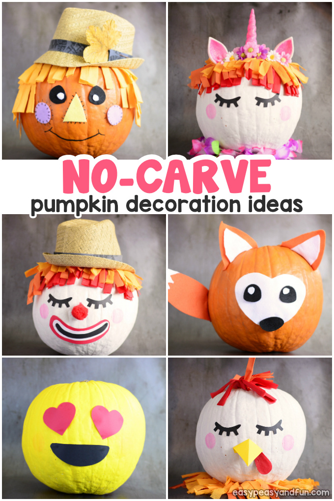Amazing Pumpkin Painting Ideas Other No Carve Pumpkin