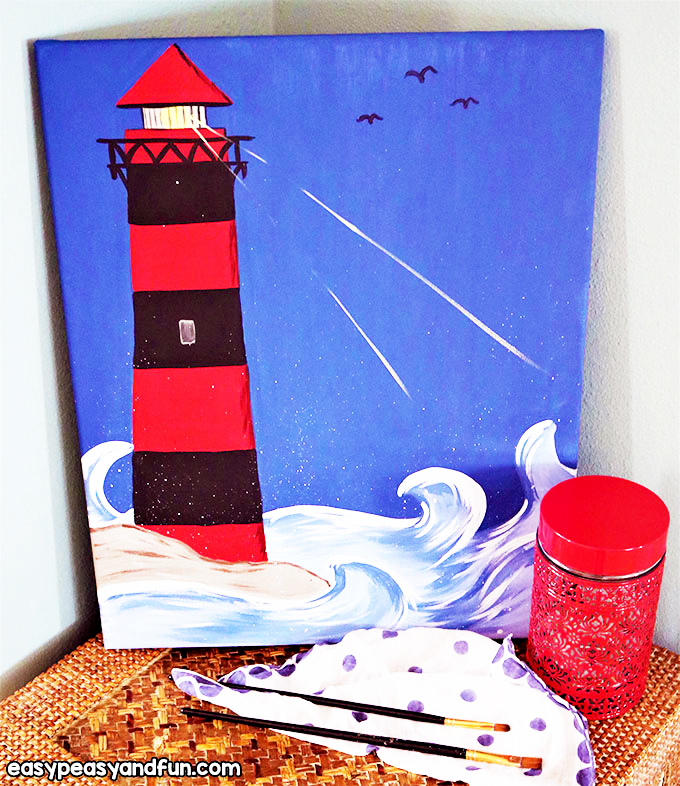 Paint a Lighthouse for Kids