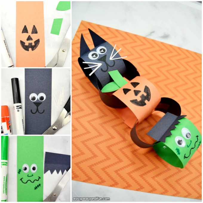 Paper Chain Halloween Paper Craft for Kids