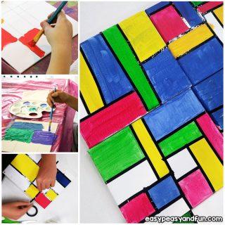 Piet Mondrian Abstract Art for Kids