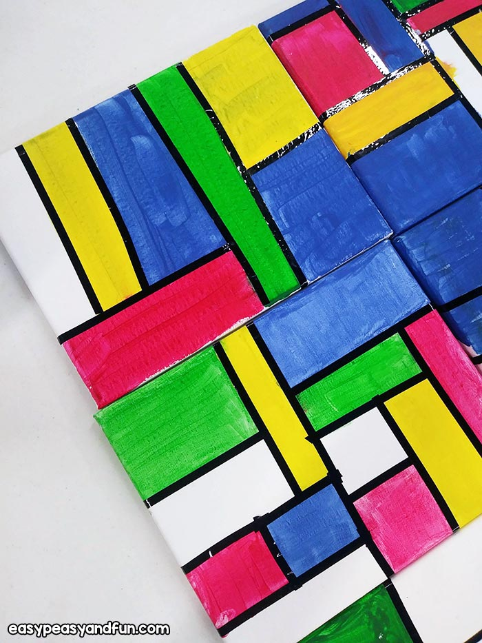 Piet Mondrian Painting for Kids