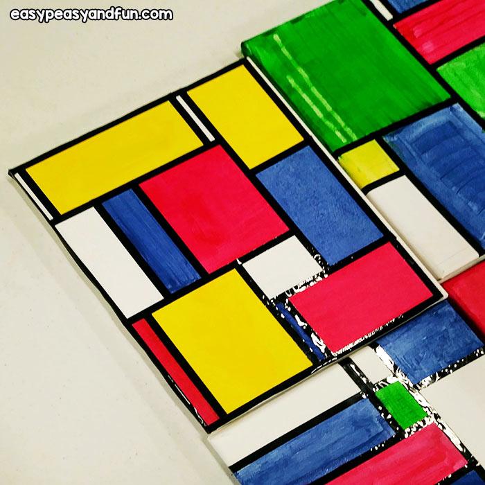 Piet Mondrian Painting on Canvas