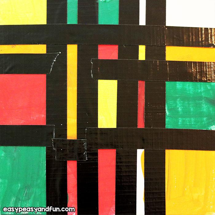 Piet Mondrian on Canvas