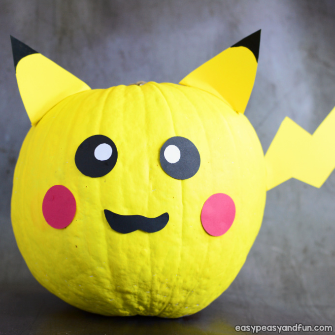 Pikachu Pumpkin Painting Idea
