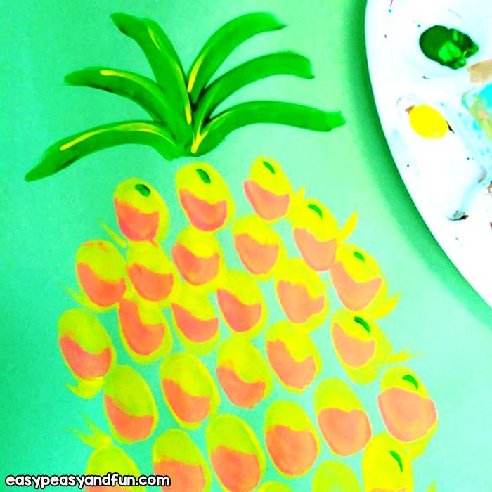 Pineapple Fingeprint Art