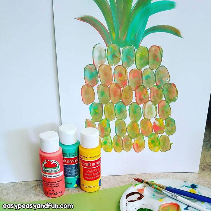 Pineapple Thumbprint Art