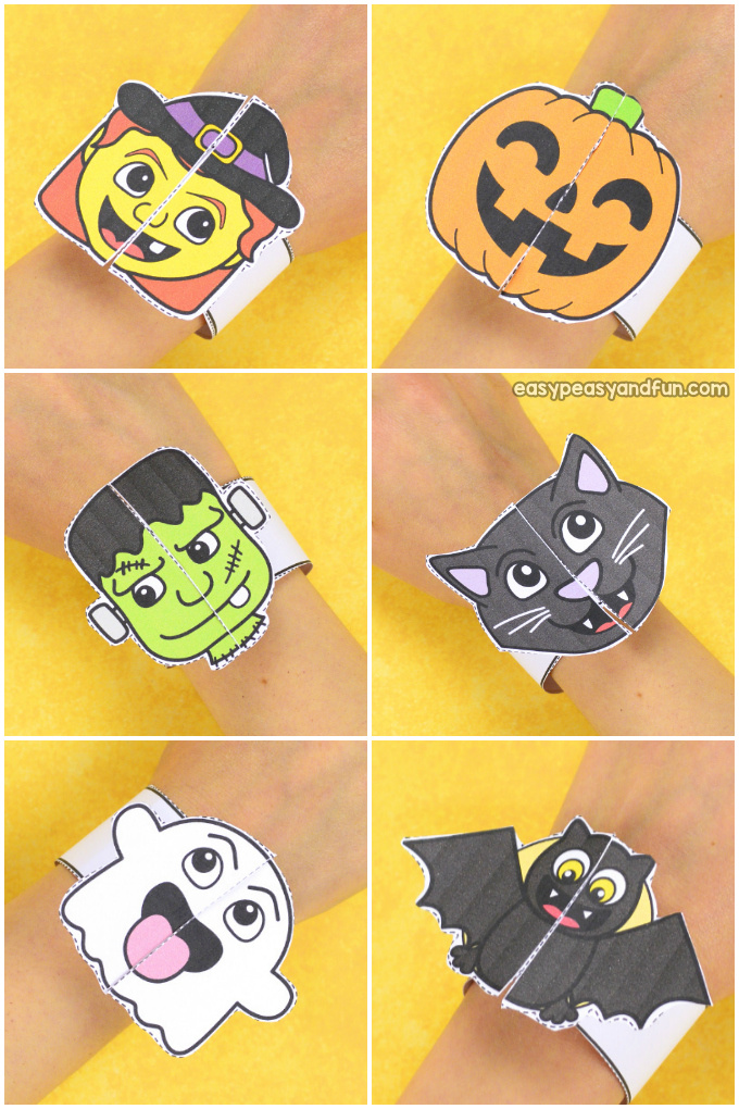 Printable Halloween Bracelets for Kids