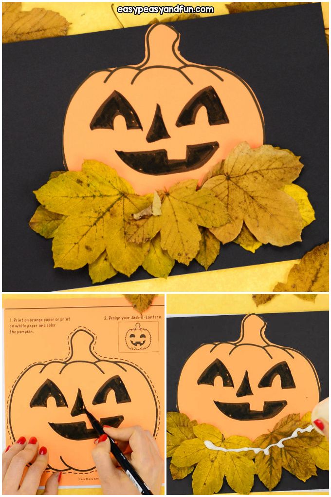 Pumpkin Craft Template for Kids to Make
