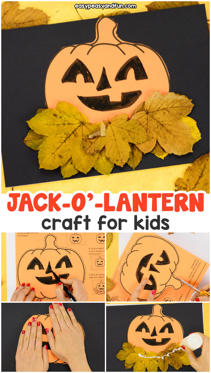 Pumpkin Craft Template for Kids. Halloween activity for kids to make.