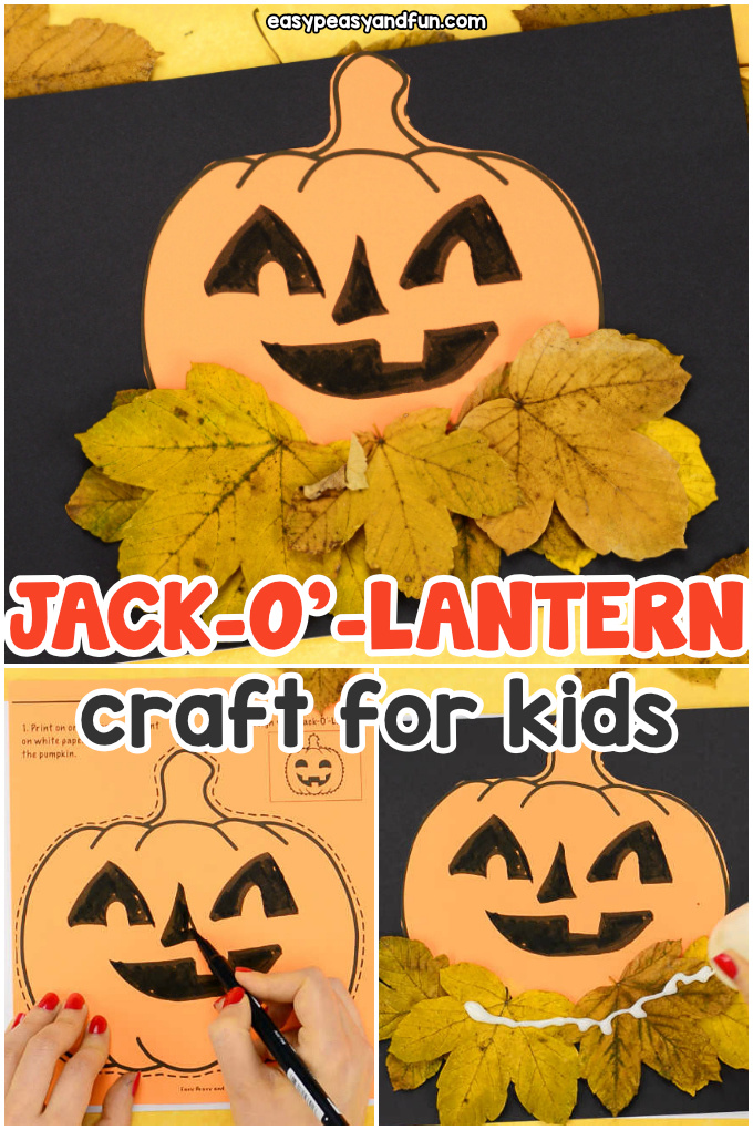 Pumpkin Craft Template for Kids