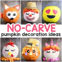 Amazing Pumpkin Painting Ideas & Other No Carve Pumpkin Decorating Ideas