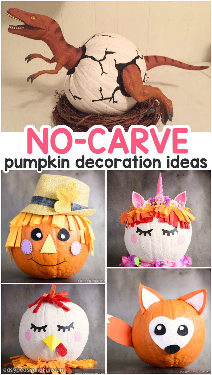 Amazing Pumpkin Painting Ideas Other No Carve Pumpkin Decorating Ideas Easy Peasy And Fun