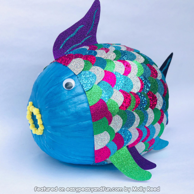 Rainbow Fish Pumpkin Idea