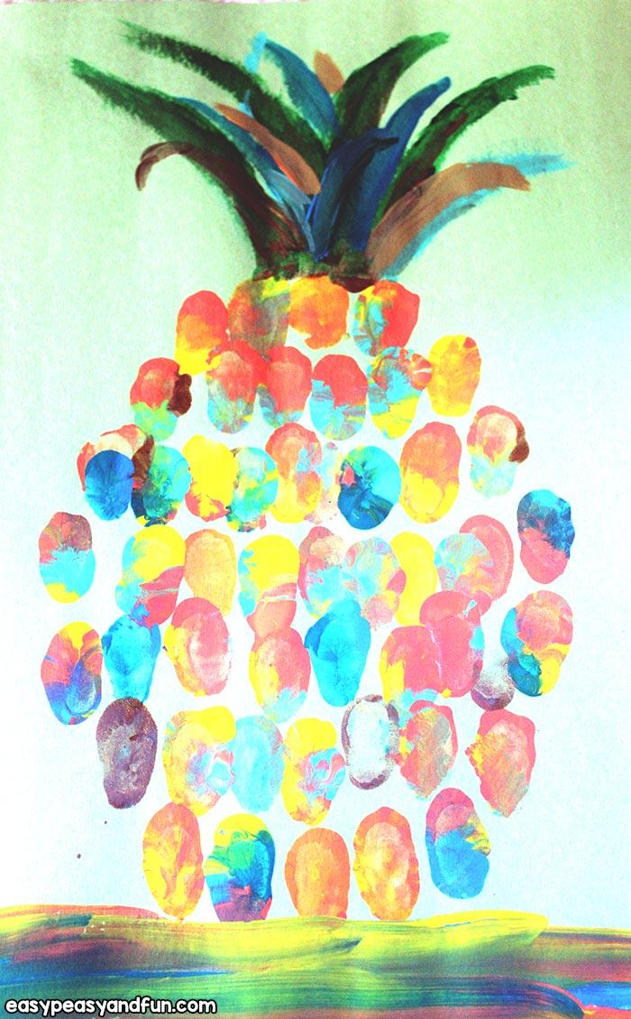 Simple Pineapple Fingerprint Art