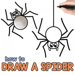 Spider Drawing Tutorial