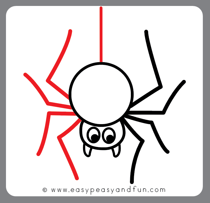 How To Draw A Spider Step By Step Drawing Tutorial Easy Peasy