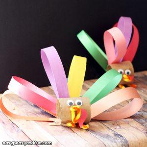 Toilet Paper Roll Turkey Craft – Thanksgiving
