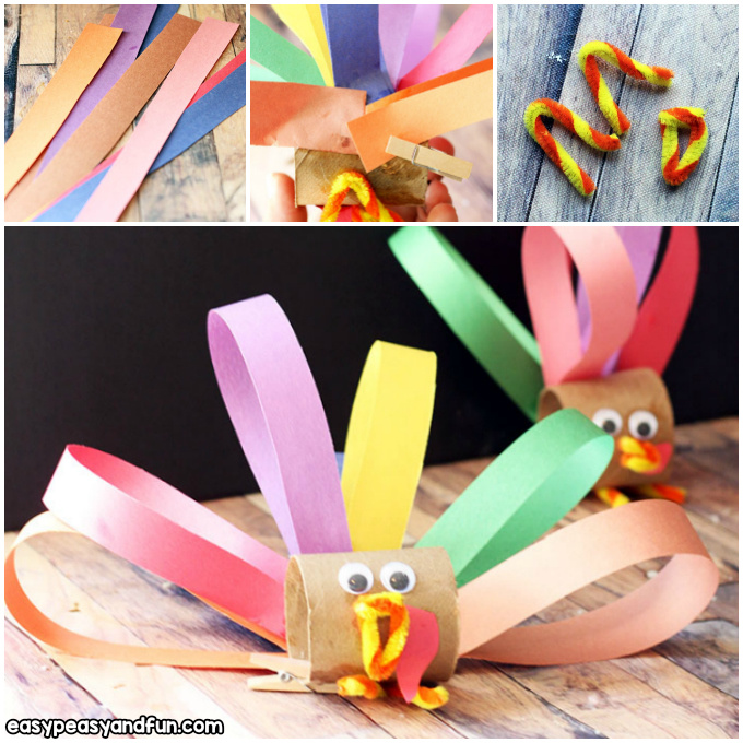 Toilet Paper Roll Turkey Craft for Kids to Make