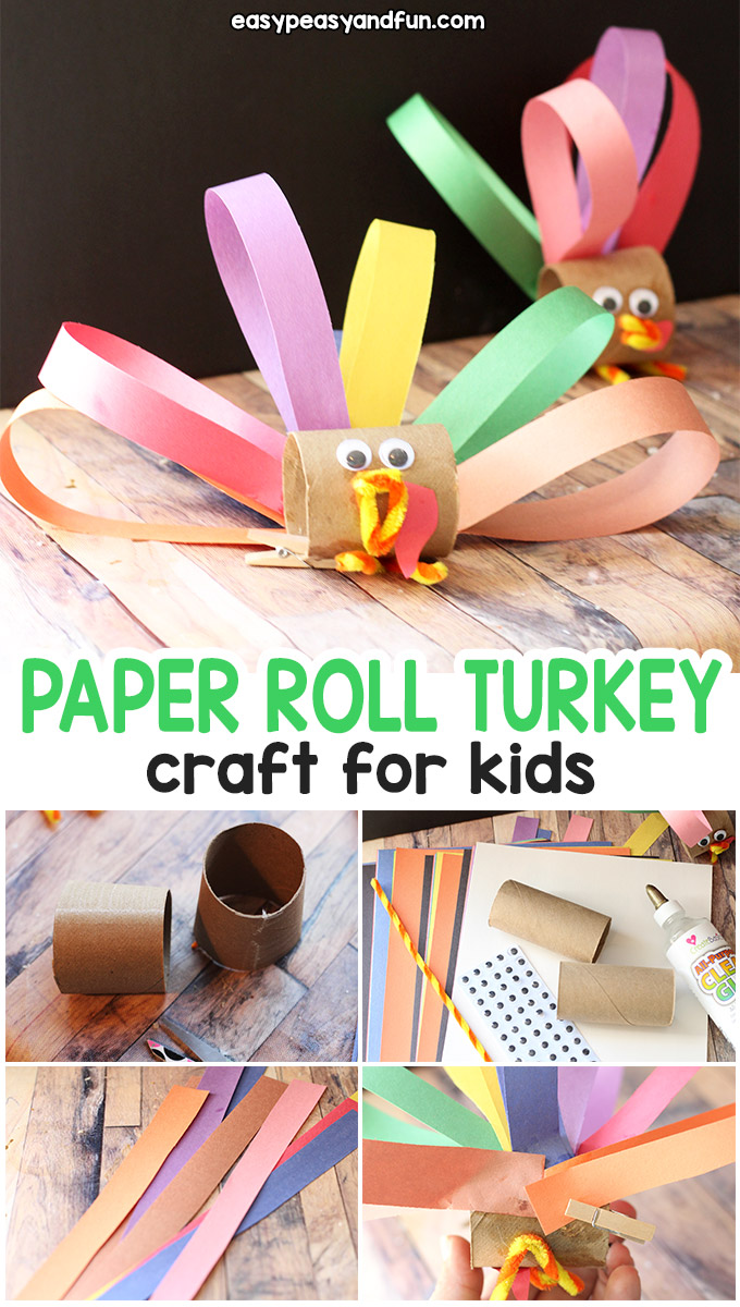 Toilet Paper Roll Turkey Craft for Kids