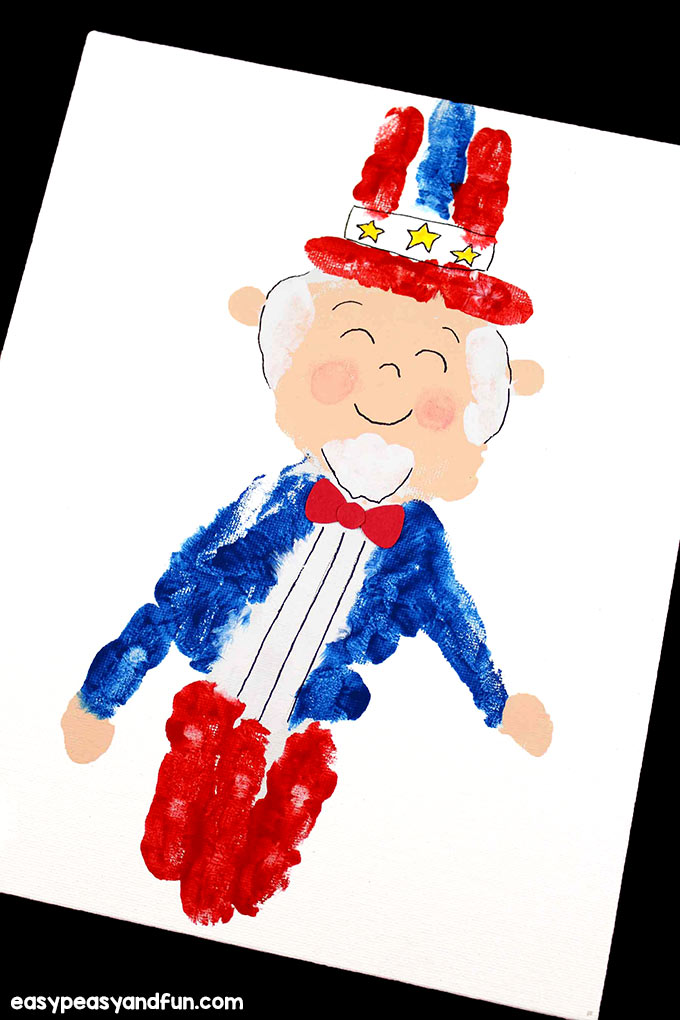 Uncle Sam Handprint Art