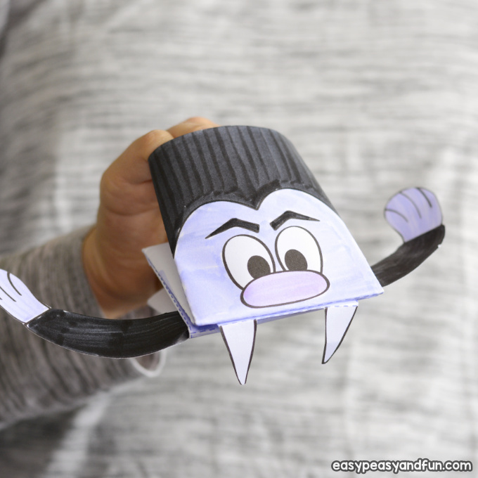Vampire Paper Craft for Kids