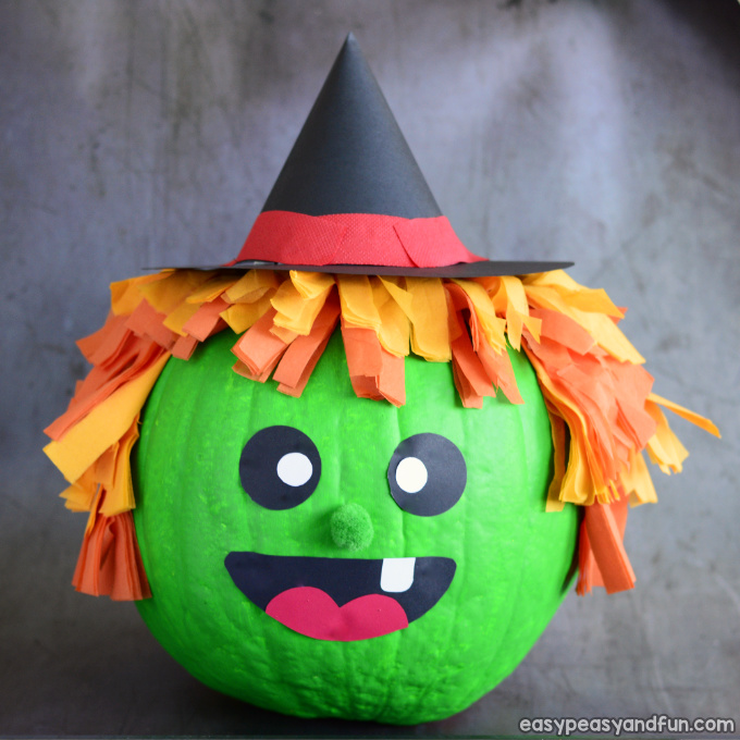 Witch Pumpkin Painting Idea