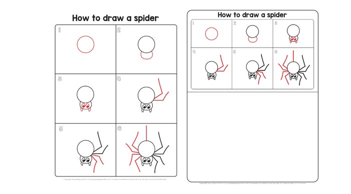 spider guided drawing