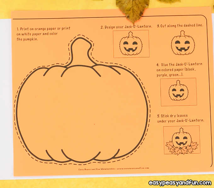 Pumpkin craft template easy peasy and fun print out the pumpkin craft template on orange paper regular print paper is ok but you can also use card stock maxwellsz