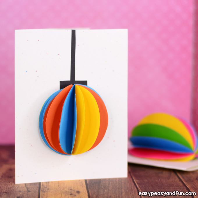3D Paper Ornament Christmas Card Idea