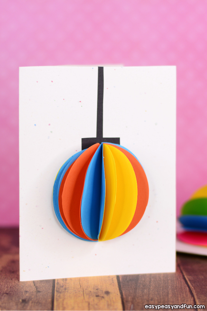 DIY 3D Paper Ornament Christmas Card Idea - Easy Peasy and Fun