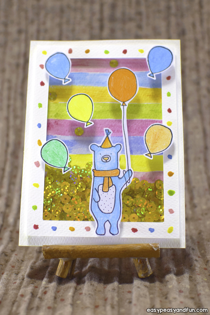 Birthday Shaker Card for Kids to Make