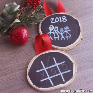 Chalk Paint Ornament for Kids