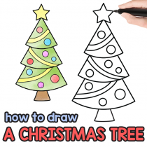 How to Draw a Christmas Tree – Step by Step Drawing Tutorial