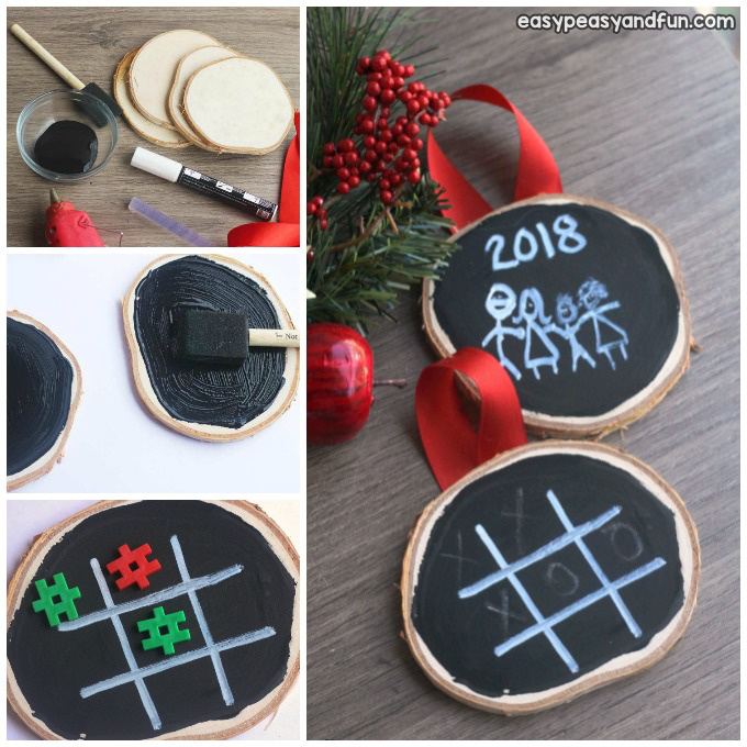 Homemade Chalk Paint Ornaments