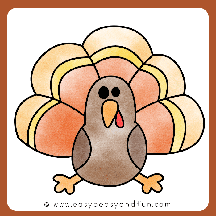 Color your turkey drawing
