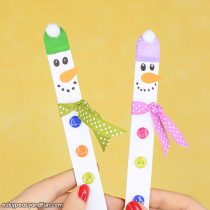 Craft Stick Snowman – Easy Snowman Craft for Kids