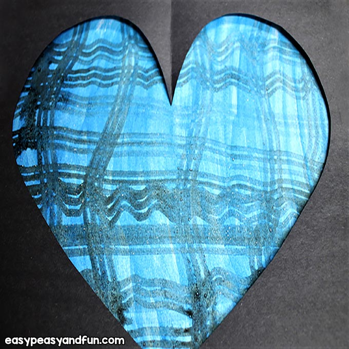 Create a Heart with Watercolors and Salt - DIY