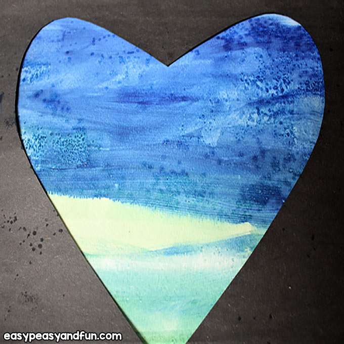 Create a Heart with Watercolors and Salt